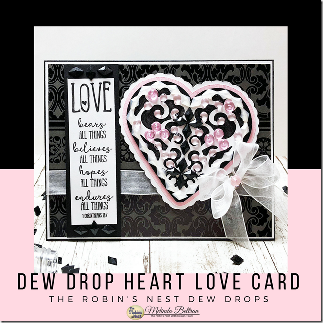 Dew Drops Heart Card