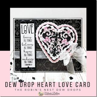 Dew Drops Heart Card