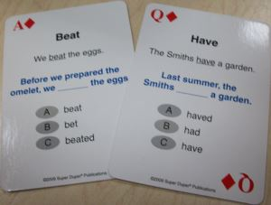 208 Irregular Verbs Playing Cards Beat & Have