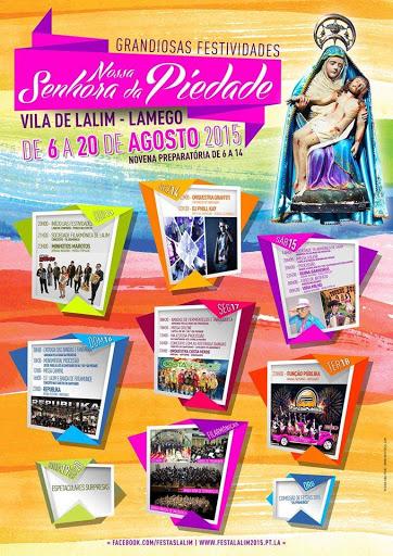 Programa das Festas em Honra de Nossa Senhora da Piedade - Vila de Lalim - Lamego - 2015