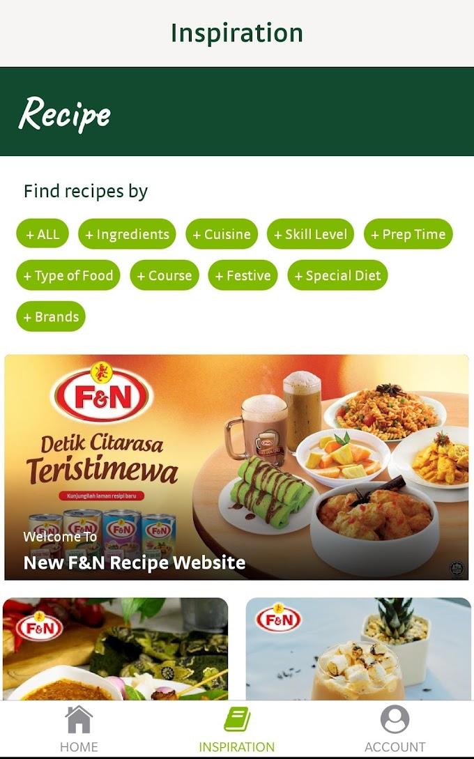 F&N Life Apps: Resepi Inspirasi Menarik