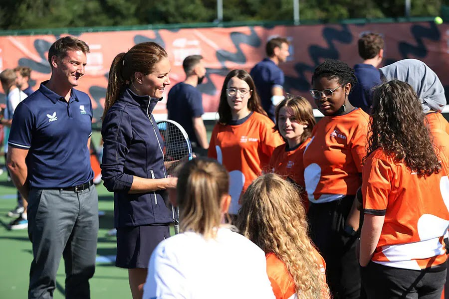 Kate Middleton plays doubles with Emma Raducanu at special Homecoming Celebration
