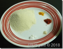 Semolina mixture