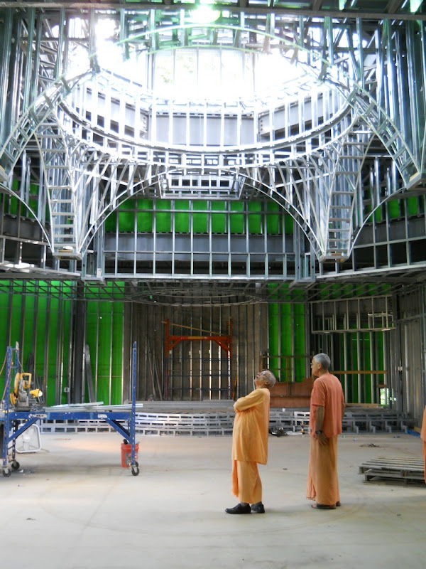 Swami Prapannananda gazes into the dome
