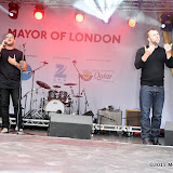 OIC - ENTSIMAGES.COM - Saif Adam singer song writer and sign language interpreters at the  Eid Festival  in London 25th July 2015 Photo Mobis Photos/OIC 0203 174 1069