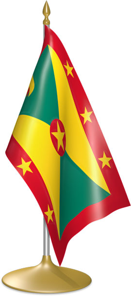 Grenadian table flags - desk flags