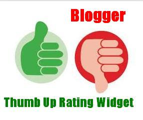 Thumb Up Rating Widget For Blogger