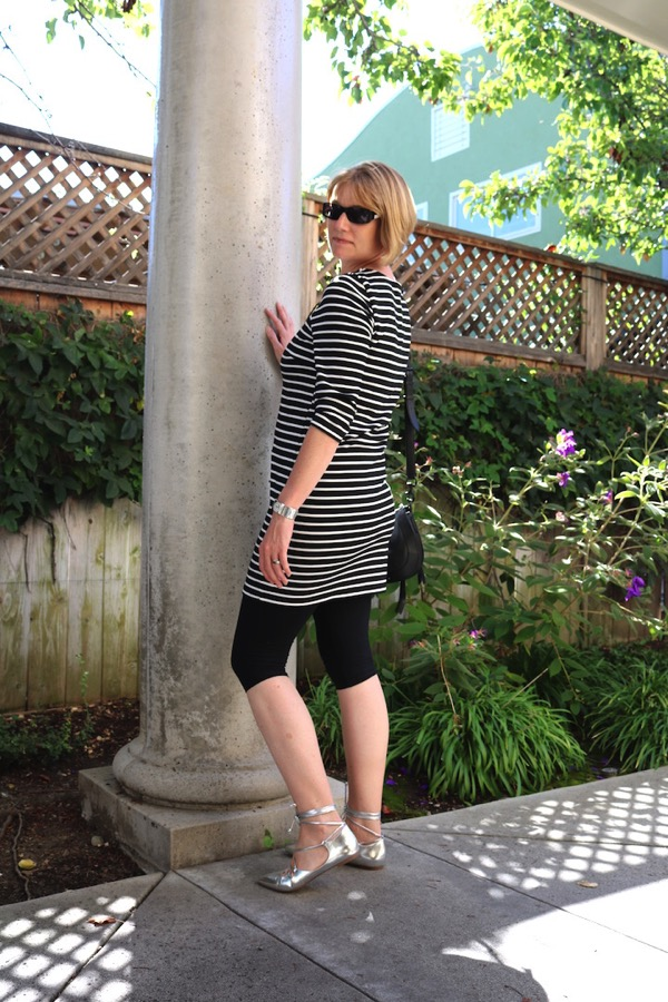 Black White Striped Tunic 4