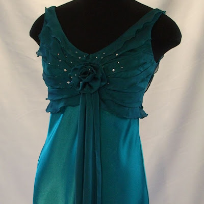 Short Ruffle Bodice Dress.