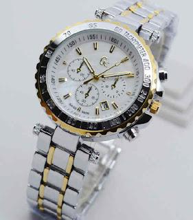 jam tangan Gc date chrono variasi