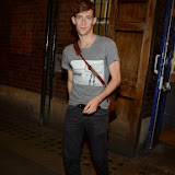 WWW.ENTSIMAGES.COM -  Luke Treadaway     leaving     The Curious Incident of the Dog in the Night-Time at Apolo Theatre Shaftesbury Avenue - London August 6th 2013                    Photo Mobis Photos/OIC 0203 174 1069