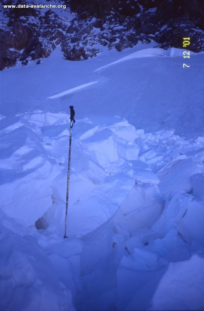 Avalanche Vanoise, secteur Grande Motte, Grande Balme - Photo 1 - © Duclos Alain