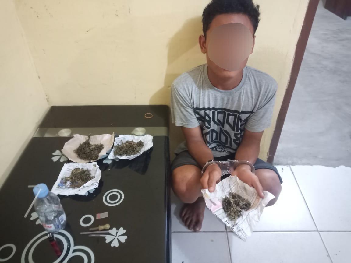 Polsek Firdaus Polres Sergai Berhasil Amankan Pelaku Dugaan Pengedar Narkoba