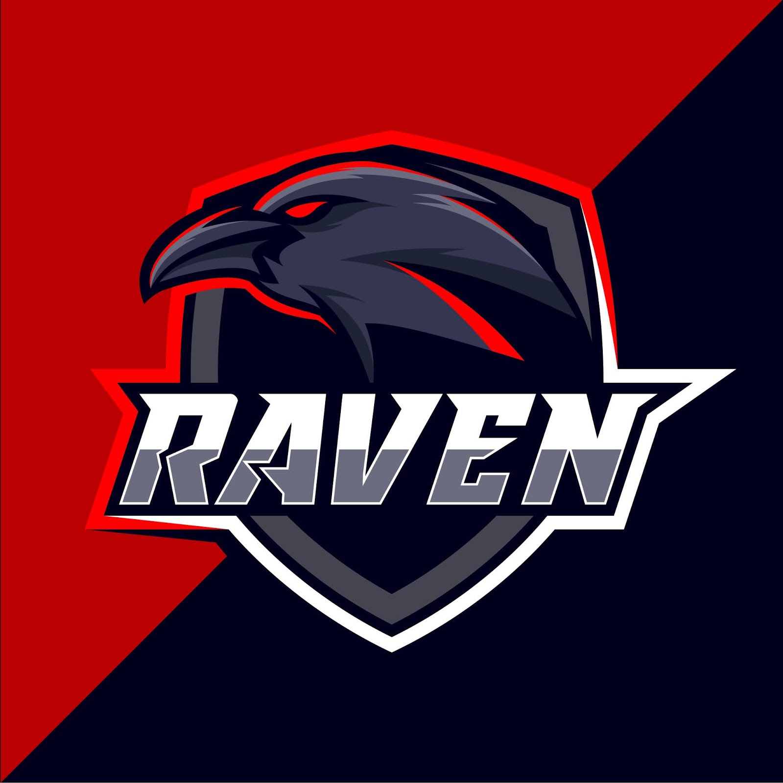 Raven Esport Logo Design Free Download Vector CDR, AI, EPS and PNG Formats