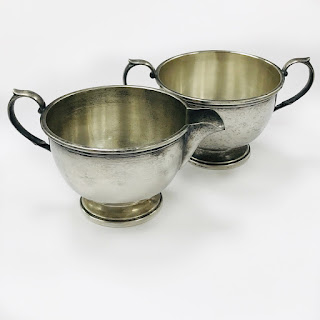 Sterling Silver Cream and Sugar Bowl Pair
