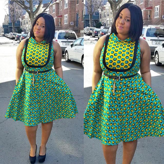Amazing Ankara Short Gown 2016 Styles 7