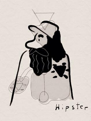 Kreativnotiz: Mann mit Bart usw