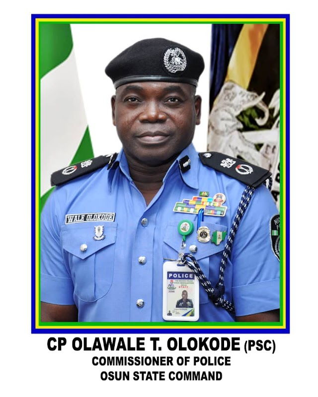 Olokode Olawale Resumes As Osun Command Commissioner Of Police ~Omonaijablog