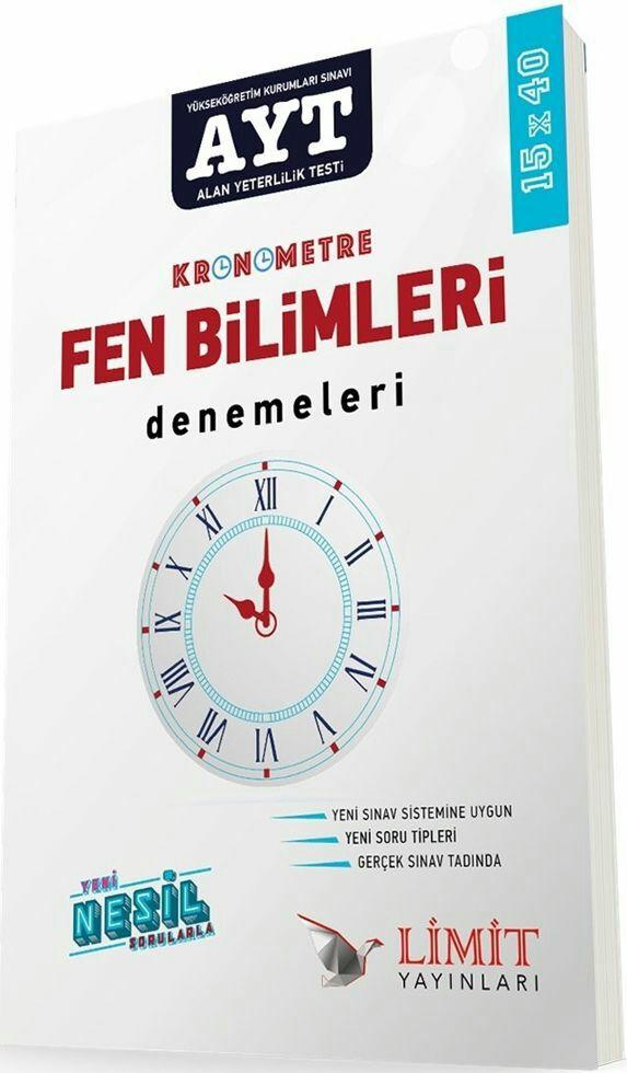 Limit Yayınları AYT Kronometre Fen Bilimleri 15x40 Deneme