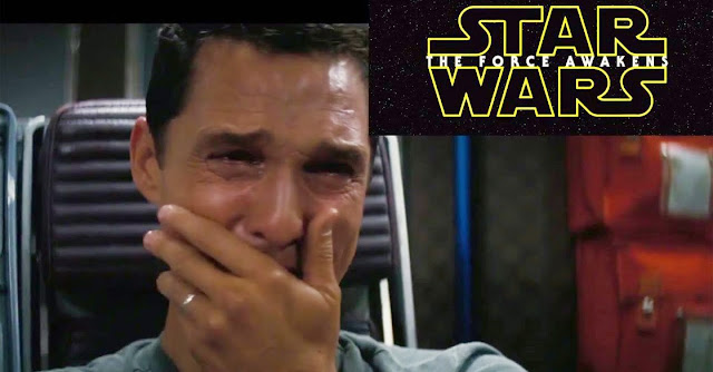 A reacção de Matthew McConaughey ao trailer de «Star Wars: The Force Awakens»