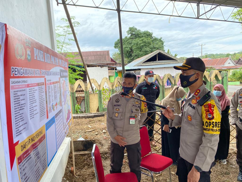 Kapolres Soppeng Pantau Langsung Situasi Pos Pengamanan Operasi Lilin