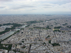 Les Invalides on the right, Les Grand Palais on the left, The Louvre in the middle distance.