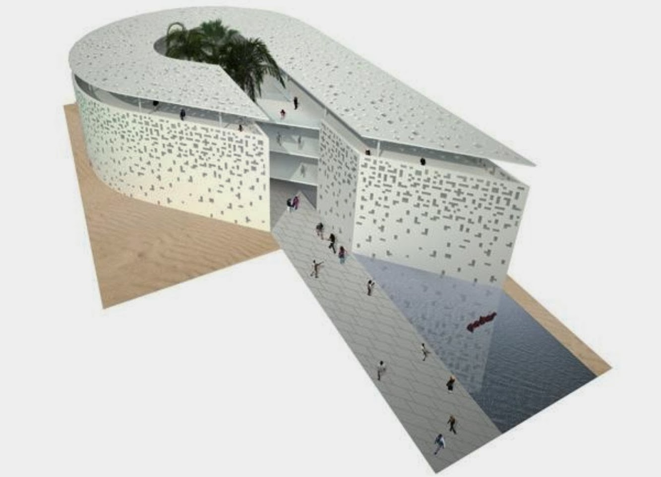 Qatar Pavilion at the Expo 2015 by Andrea