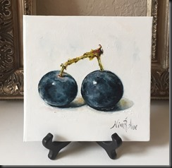Two Blueberries easel