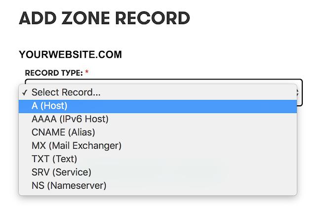 Create Dynamic Subdomains A ZONE settings