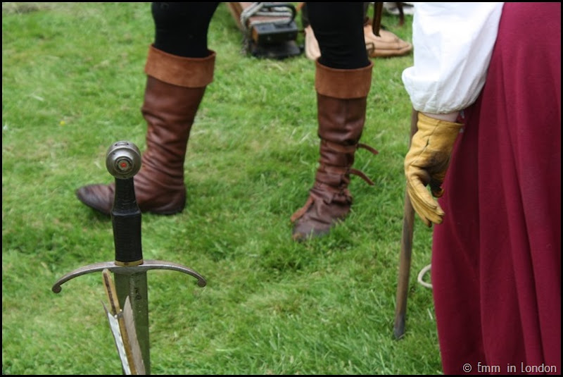 A sword in the grass at Lullingstone Castle medieval weekend