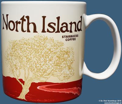 North Island -  Te Ika ā Māui Starbucks Coffee icon mug (front)