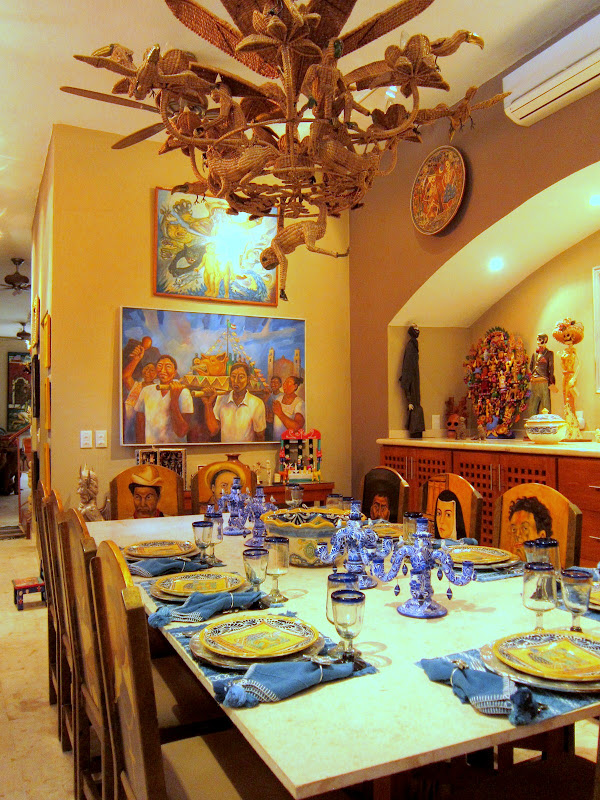 The formal dining room in La Casa de Los Venados