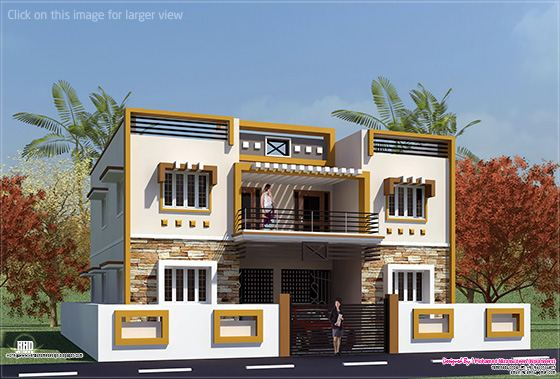 Box type tamilnadu house design kerala home design and for Tamilnadu home design photos