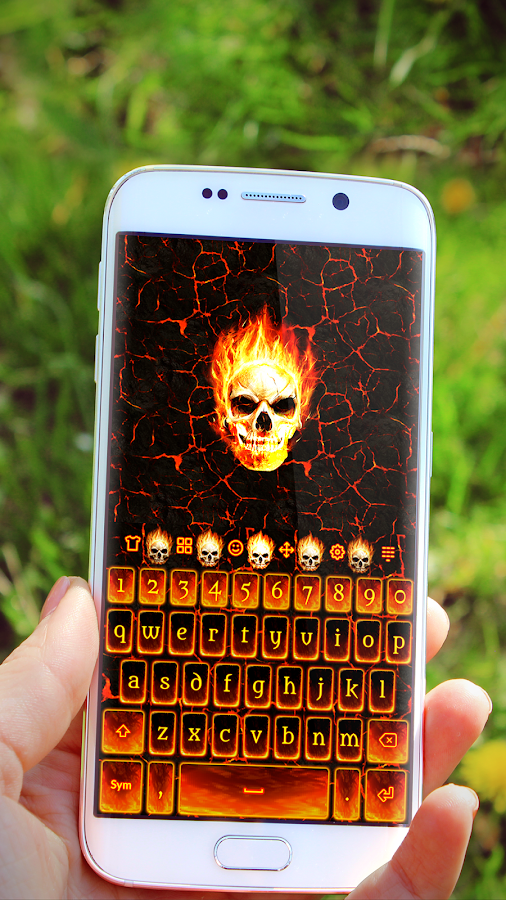 Fire Skull Keyboard- screenshot