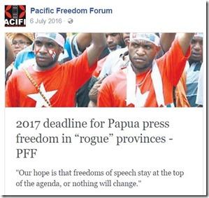 PFF west papua