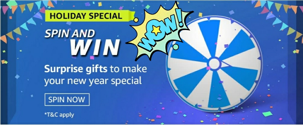 Amazon Holiday Special Spin And Win-Exciting Rewards 1