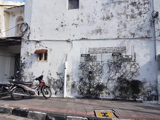 Street Art at Lebuh Armenian in Georgetown Penang