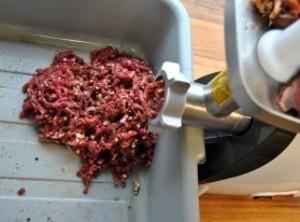 Hand mix all ingredients for the sausage, then use a Meat Grinder with a...