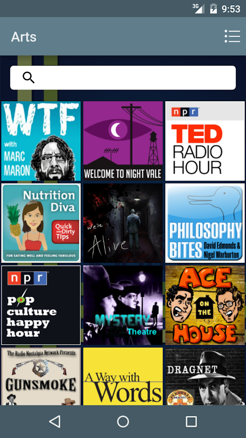 The Podcast Source- screenshot