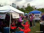 Some of the other team tents before the Walk to End Lupus.