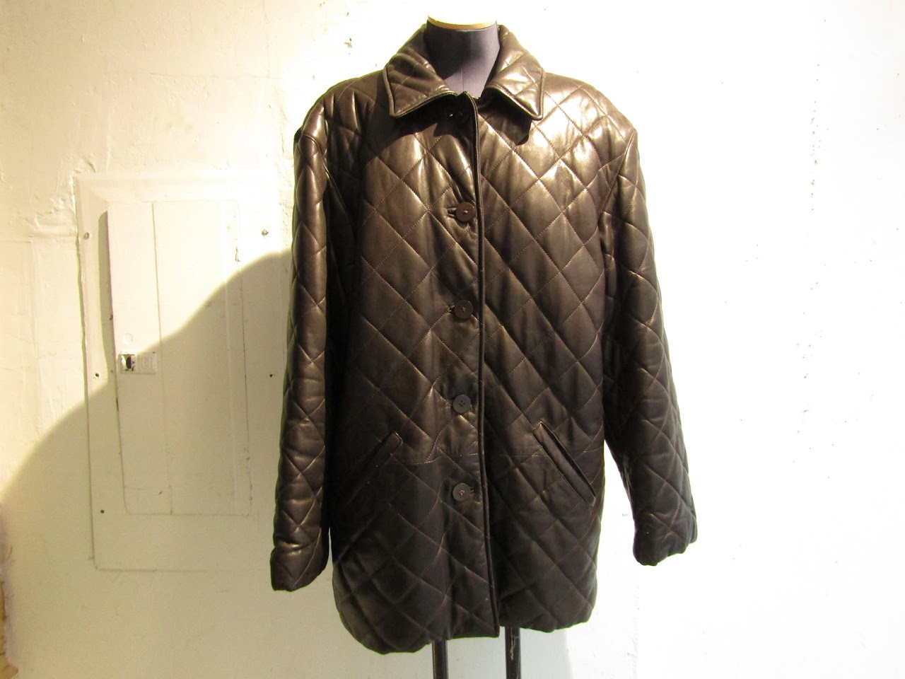 Vintage Burberry Quilted Leather Jacket