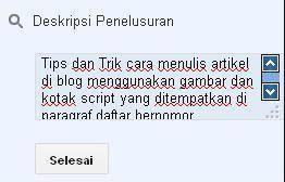 meta deskripsi untuk seo blog