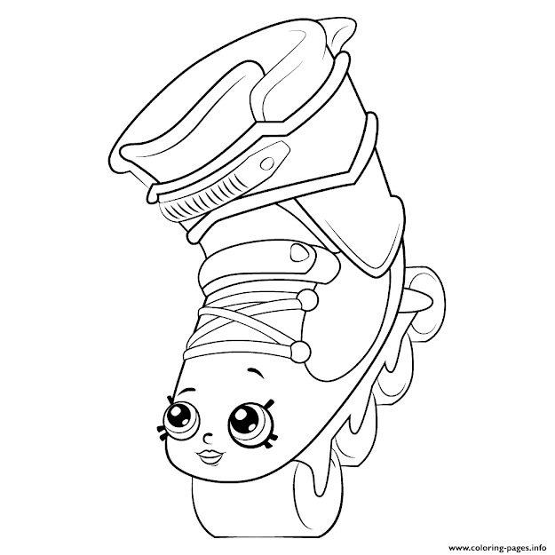 Rollerblades Shopkins Season  Colouring Print Rollerblades Shopkins Season   Coloring Pages