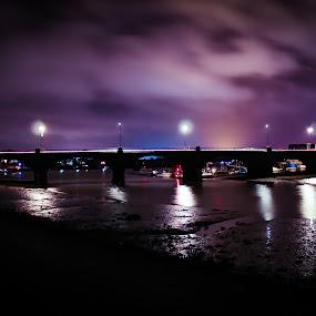 Cobdon Bridge by Bradley Foot - Buildings & Architecture Bridges & Suspended Structures ( night, dramatic, bridge, canon, architecture,  )