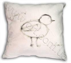 Photo: Подушка с Вашим рисунком. Мех нежно-розового цвета