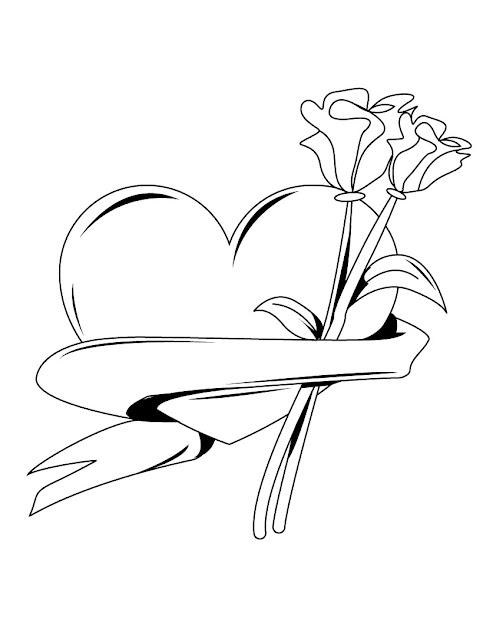 Hearts Coloring Page