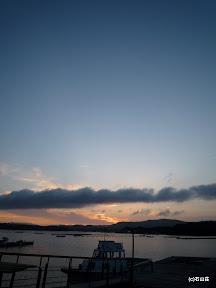 2009/6/28の夕景です。雲と空がきれいでした。
