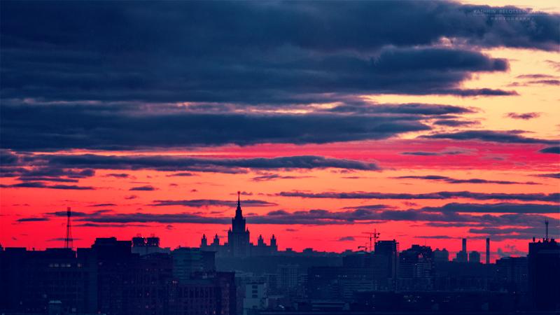 Закат над Москвой. Фотограф Катрин Белоцерковская. Kate BLC photography