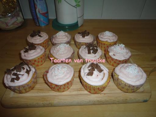 muffins met boter crème