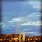 #Hollywood:Where dreams come true. #rainbow #hollywoodsign